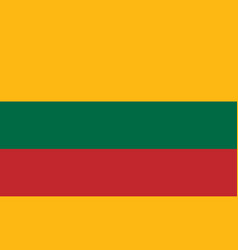 flag of lithuania in national colors vector image