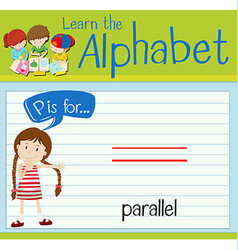 Flashcard letter P is for parallel vector