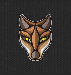 Fox logo design template head icon vector