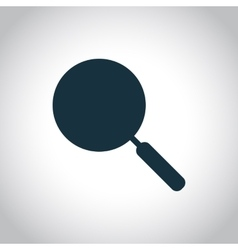 Frying pan silhouette icon vector image
