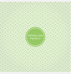 Geometric infinity line abstract pattern vector