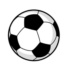 Graphic of a soccer ball vector