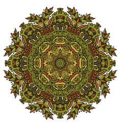 Green medallion background indian mandala vector