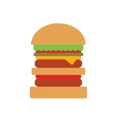 Hamburger and sandwich fast food vector image