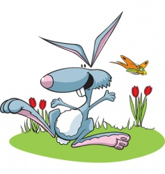 hopping rabbit vector image