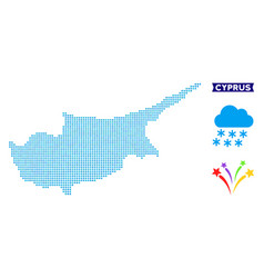 Icy cyprus island map vector