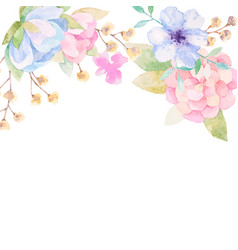 Invitation card with watercolor flowers for your vector