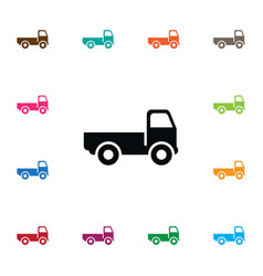 isolated bogie icon trucking element can vector image