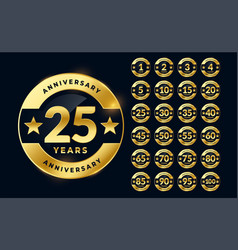 Labels set for wedding anniversary vector