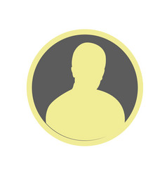 male user circle icon black avatar icon user vector image