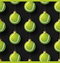 merry christmas basketball seamless horizontal vector image