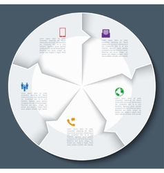 Modern business infographics circle vector image
