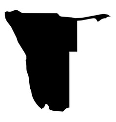 namibia - solid black silhouette map of country vector image