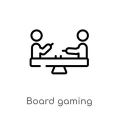 Outline board gaming icon isolated black simple vector