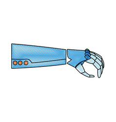 Robotic arm mechanical modern technology vector