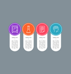 sample text banner colorful circle with icons vector image