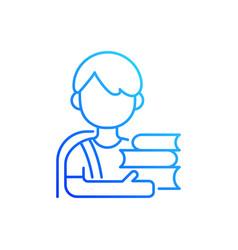 schoolboy gradient linear icon vector image