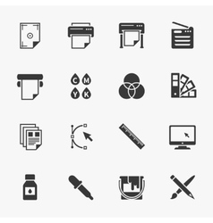 set of printing icons vector image