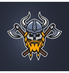 Skull viking warrior vector