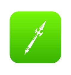 Spear battle icon simple black style vector