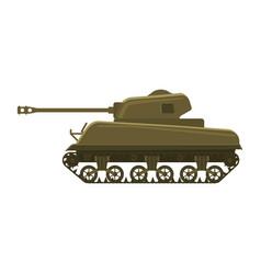 Tank american world war 2 m4 sherman medium tank vector