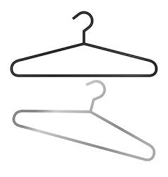 Two hangers in vector