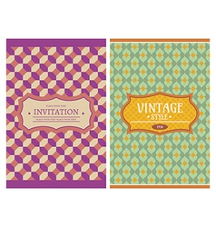 vintage retro cards vector image
