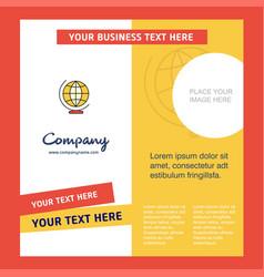 world globe company brochure template busienss vector image