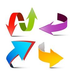 Arrows Set Colorful 3D Arrows Logo Arrow Symbols vector image