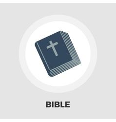 Bible flat icon vector
