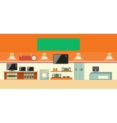 Electronics shop vector
