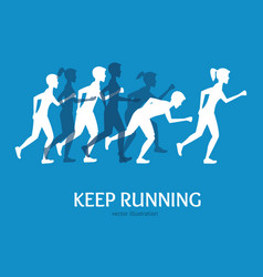 keep running card vector image vector image