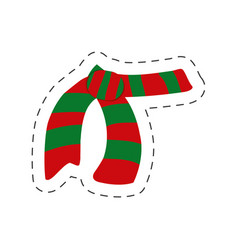red and green scarf christmas vector image
