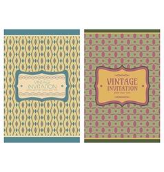 vintage retro cards vector image vector image