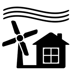 windmill alternative energy source for home vector image vector image