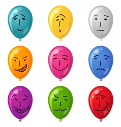 Balloon set smilies vector image