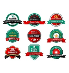 Flat quality guarantee labels vector image vector image