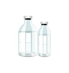 plastic transparent bottles with medicine vector image vector image