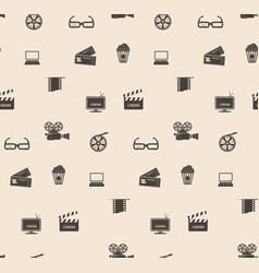 seamless pattern film frame vector image