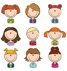 Girls Avatar vector image vector image