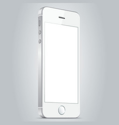 Realistic white apple iphone 5s and iphone 6 plus vector image
