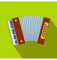 Retro accordion flat icon vector