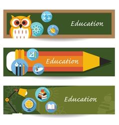 School education banner vector