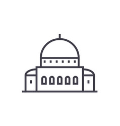 templesynagogue line icon sign vector image vector image