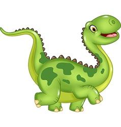 Cartoon funny dinosaur isolated vector image