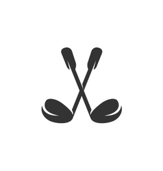 Golf icon isolated on a white background vector image vector image