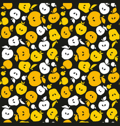 yellow apple fruit seamless pattern for fabric vector image vector image