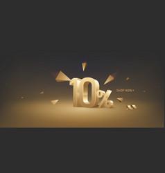 10 percent off discount sale vector