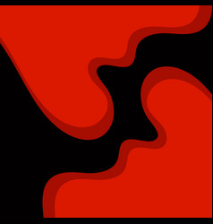 abstract background with red waves vector image