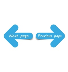 Arrows next and previous page vector